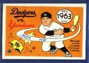 1970 Fleer Laughlin World Series Blue Backs #60 1963 Dodgers/Yankees/(Moose Skowron)
