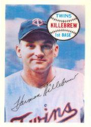 1970 Kellogg's #61 Harmon Killebrew