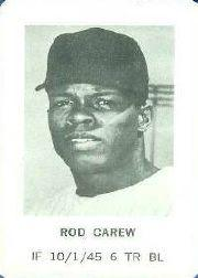 1970 Milton Bradley #4 Rod Carew