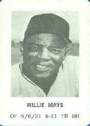 1970 Milton Bradley #15 Willie Mays