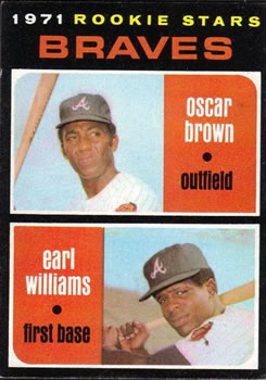 1971 Topps #52 Rookie Stars/Oscar Brown RC/Earl Williams RC