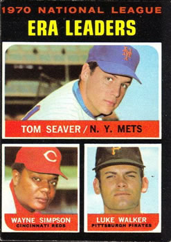 1971 Topps #68 NL ERA Leaders/Tom Seaver/Wayne Simpson/Luke Walker