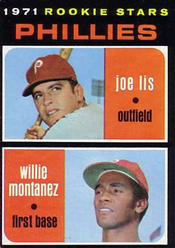 1971 Topps #138 Rookie Stars/Joe Lis/Willie Montanez RC