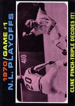 1971 Topps #199 NL Playoff Game 1/Ty Cline