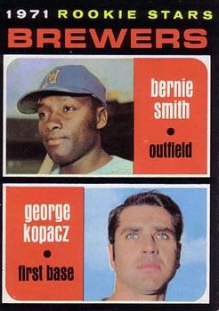 1971 Topps #204 Rookie Stars/Bernie Smith RC/George Kopacz RC