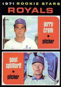 1971 Topps #247 Rookie Stars/Jerry Cram RC/Paul Splittorff RC