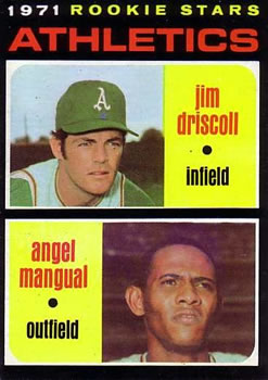 1971 Topps #317 Rookie Stars/Jim Driscoll RC/Angel Mangual