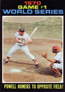 1971 Topps #327 World Series Game 1/Boog Powell