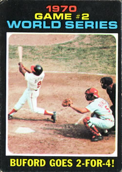1971 Topps #328 World Series Game 2/Don Buford