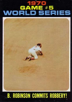 1971 Topps #331 World Series Game 5/Brooks Robinson