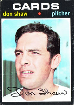 1971 Topps #654 Don Shaw SP
