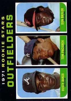 1971 Topps #709 Rookie Stars/Dusty Baker RC/Don Baylor RC/Tom Paciorek RC SP