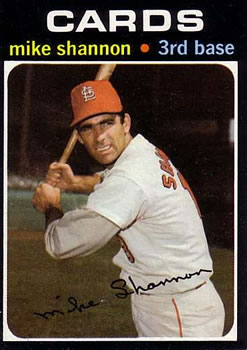 1971 Topps #735 Mike Shannon SP