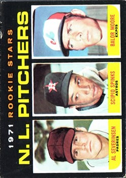 1971 Topps #747 Rookie Stars/Al Severinsen/Scipio Spinks/Balor Moore RC
