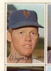 1971 Dell Today's Team Stamps #152 Wayne Garrett