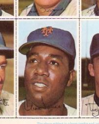 1971 Dell Today's Team Stamps #156 Cleon Jones