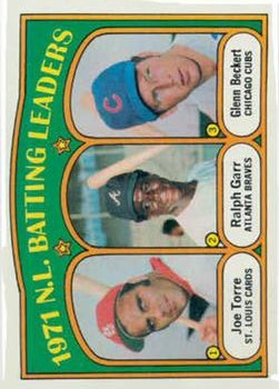 1972 Topps #85 NL Batting Leaders/Joe Torre/Ralph Garr/Glenn Beckert