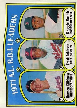 1972 Topps #88 AL RBI Leaders/Harmon Killebrew/Frank Robinson/Reggie Smith