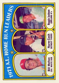 1972 Topps #90 AL Home Run Leaders/Bill Melton/Norm Cash/Reggie Jackson