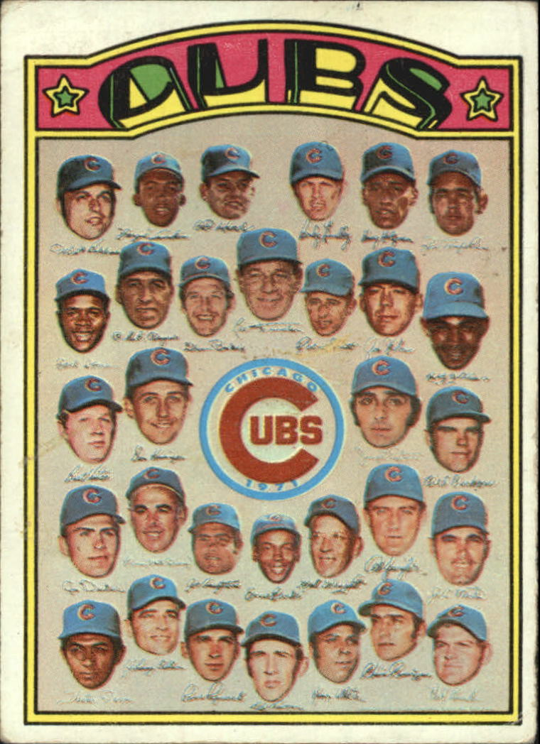 1972 Topps #192 Chicago Cubs TC