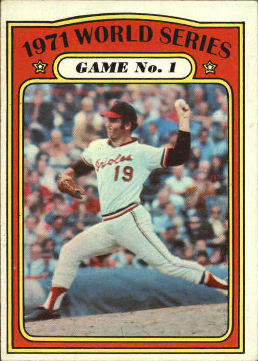 1972 Topps #223 World Series Game 1/Dave McNally front image