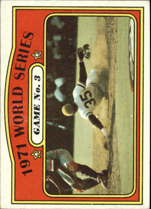 1972 Topps #225 World Series Game 3/Manny Sanguillen