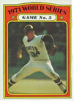 1972 Topps #227 World Series Game 5/Nellie Briles