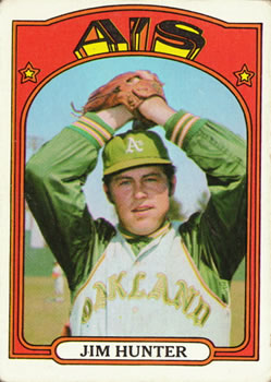 1972 Topps #330 Jim Hunter