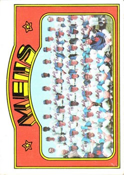 1972 Topps #362 New York Mets TC