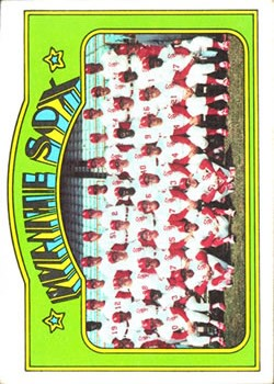 1972 Topps #381 Chicago White Sox TC