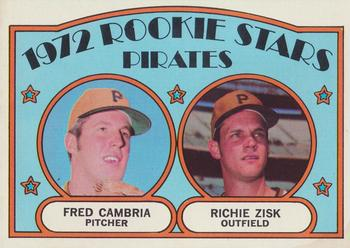 1972 Topps #392 Rookie Stars/Fred Cambria/Richie Zisk RC