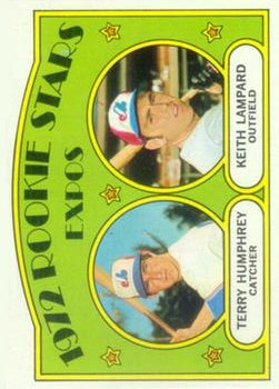 1972 Topps #489 Rookie Stars/Terry Humphrey RC/Keith Lampard