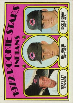 1972 Topps #506 Rookie Stars/Terry Ley RC/Jim Moyer RC/Dick Tidrow RC