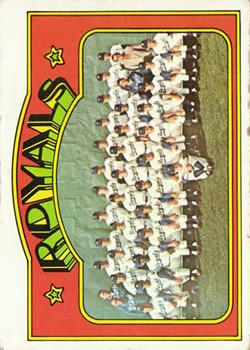 1972 Topps #617 Kansas City Royals TC