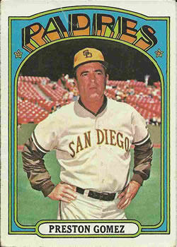 1972 Topps #637 Preston Gomez MG