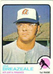 1973 Topps #33 Jim Breazeale RC