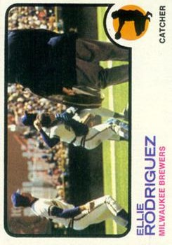 1973 Topps #45 Ellie Rodriguez UER (Photo is either John Felske or Paul Ratliff)