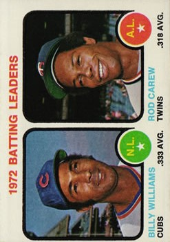 1973 Topps #61 Batting Leaders/Billy Williams/Rod Carew