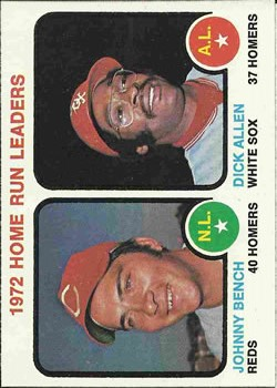 1973 Topps #62 Home Run Leaders/Johnny Bench/Dick Allen