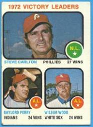 1973 Topps #66 Victory Leaders/Steve Carlton/Gaylord Perry/Wilbur Wood