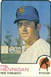1973 Topps #107 Phil Hennigan
