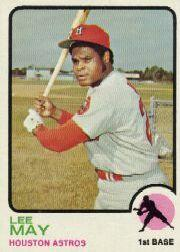 1973 Topps #135 Lee May UER/(Career average .000)