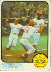 1973 Topps #202 NL Playoff/George Foster