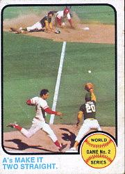 1973 Topps #204 World Series Game 2/A's Two Straight