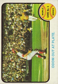 1973 Topps #207 World Series Game 5/Blue Moon Odom