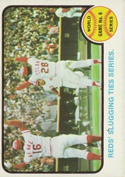 1973 Topps #208 World Series Game 6/Johnny Bench