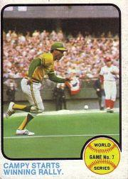 1973 Topps #209 World Series Game 7/Bert Campaneris