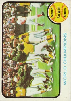 1973 Topps #210 World Series Summary/World Champions/A's Win