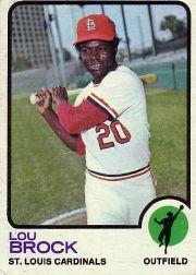 1973 Topps #320 Lou Brock