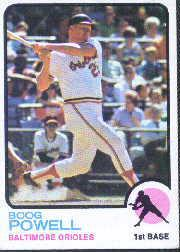 1973 Topps #325 Boog Powell